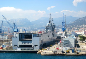 Mistral in dry dock at Toulon